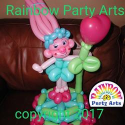 Poppy Troll BIrthday Cake Balloon