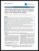 IUD thailand burma border conflict settings