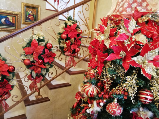 Decoración de Espacios en la Casa en época de Navidad.