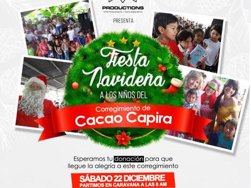 Diciembre mes para Compartir en Navidad con los niños de Cacao de Capira.
