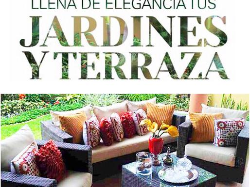 Llena de elegancia tus jardines y terraza en Revista AUNO.
