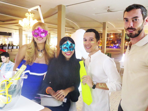 Neon Champagne Night Party
