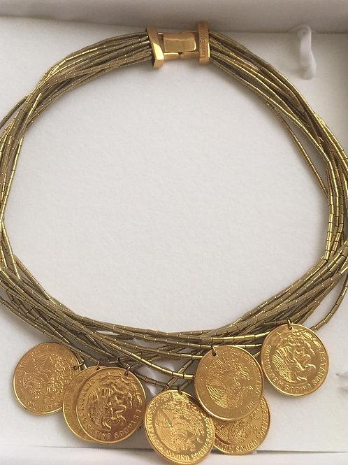Copia de Collar con Diseños en Monedas en Oro -Daniel Espinosa