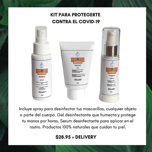 Kit Desinfectante con protección para el Covi-19