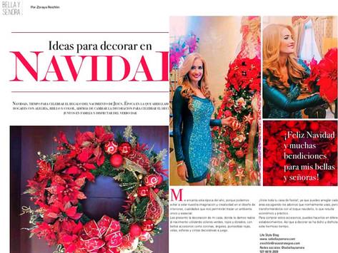 Reportaje en Revista AUNO - Ideas para Decorar en Navidad
