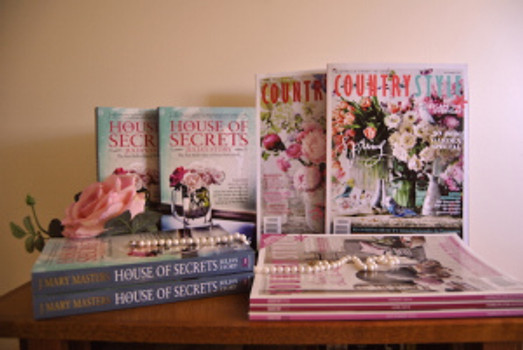Hey, they look alike! House of Secrets, Julia's Story cover and Country Style magazine