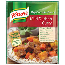 KNORR Mild Durban Curry Dry Cook-in-sauce  58g