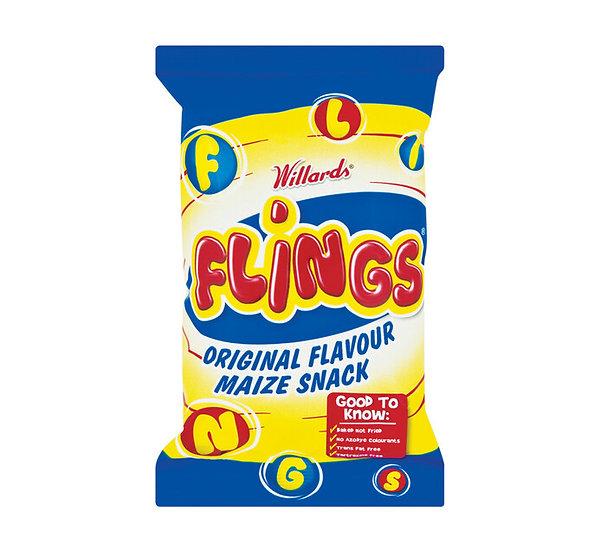 Willards Flings Maize Snacks 150g