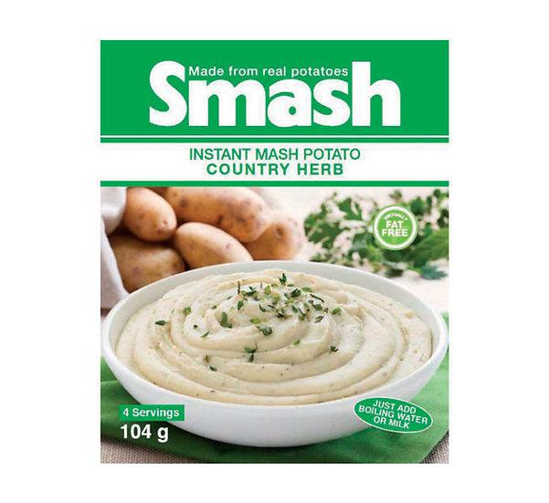 Smash Instant Mash Potato Country Herb 104g