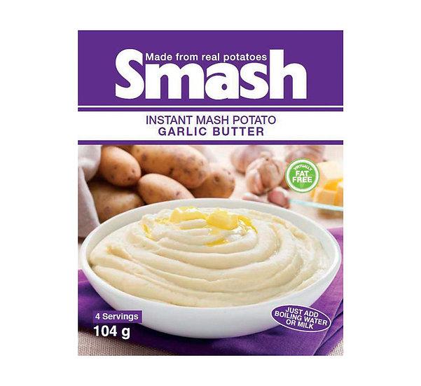 Smash Instant Mash Potato Garlic & Butter 104g