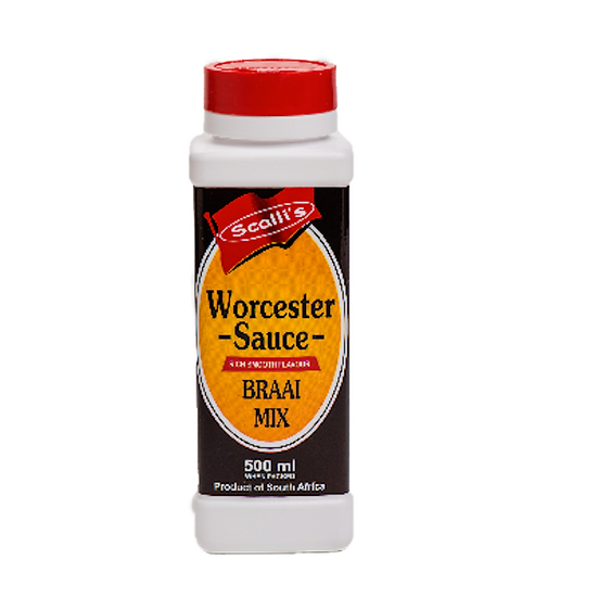 Scalli's Worcester Sauce Braai Mix 500m