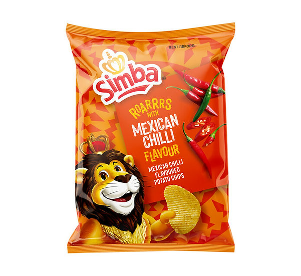 Simba Potato Chips Mexican Chilli  120g