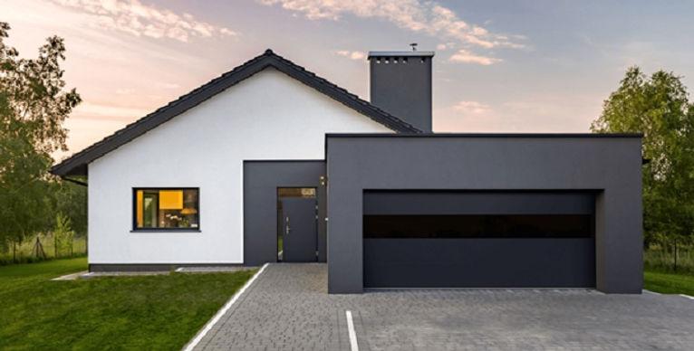 Flush Smooth Steel Garage Door