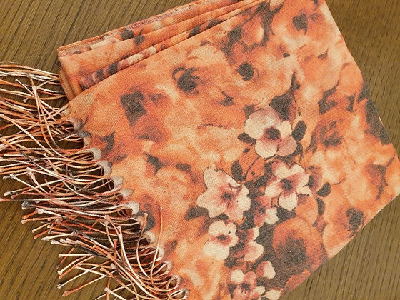 Pashmina Roses orange