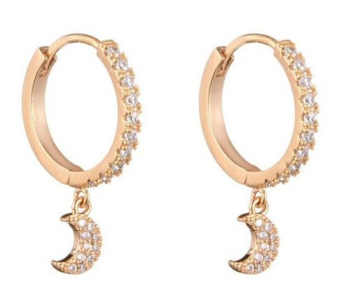 Earrings Moon and Stars gold