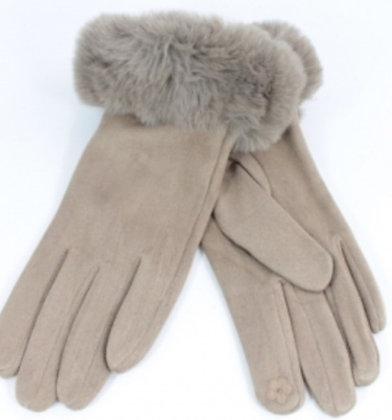 Gloves-handschoenen 'Bontje' taupe