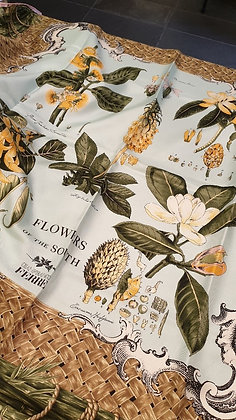 Ferre Gianfranco vintage silk scarf Flowers