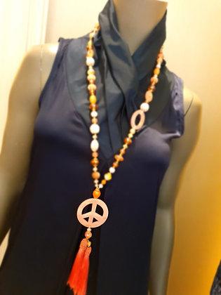 Collier Peace 'rose'