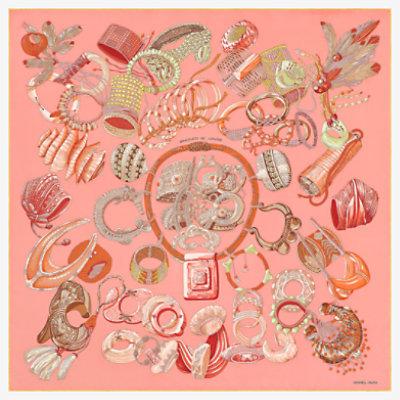 Hermes carre 90x90 Bracelets de Lumiere Rose