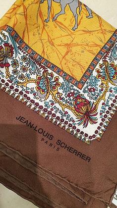 Jean Louis Scherre  vintage scarf