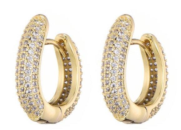 Earrings zirconi  goldplated steelbase