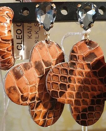 Oorbellen Leder earrings