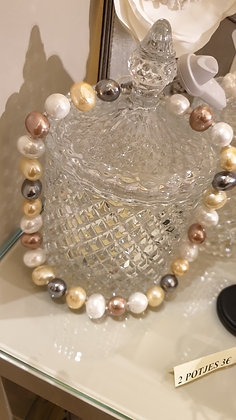 Ketting Fresh water pearls silver lock