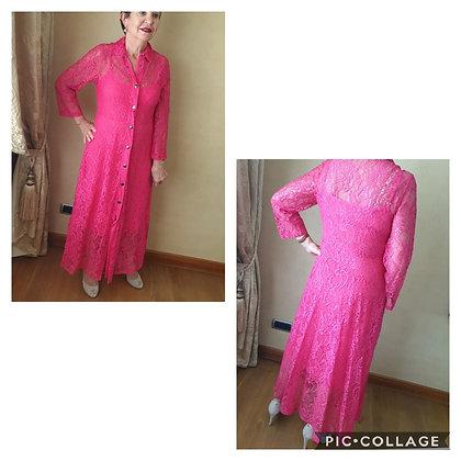 Only-M lace dress Fuchsia