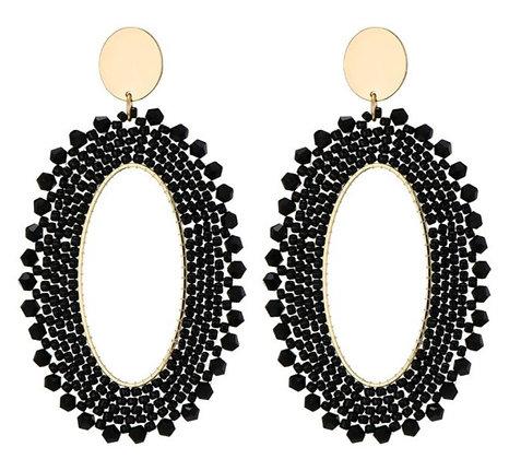 OorbellenTresse and Miyuki beads black