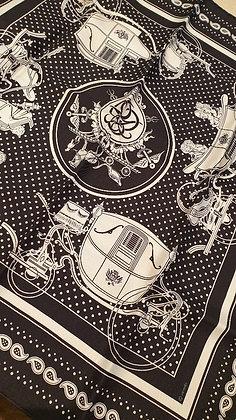 Hermes silk scarf 'la Carrosse'  70x70