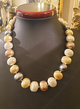 Shell pearl necklace (3color)