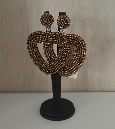 Oorbellen Heart bronze