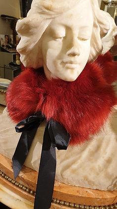Fake Fur collar red