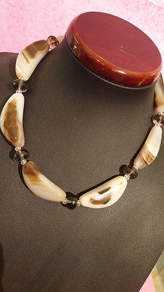 Collier chain Agaat brown