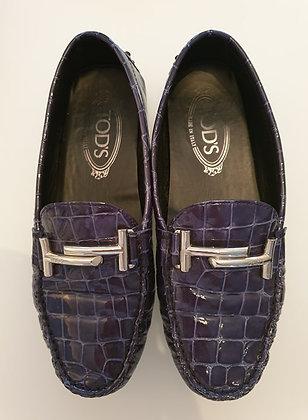 Tod's (vintage) navy crocoprint