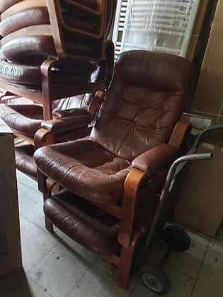 Vintage Danish reclining chairs