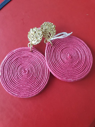 Oorbellen Coton pastel fuchsia roze