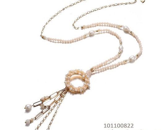 Long necklace Fantasy offwhite