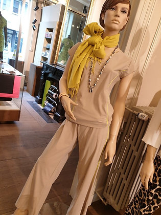 Only-M set Taupe & Fluo yellow