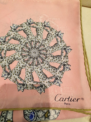 Cartier carre soie Panthere rose