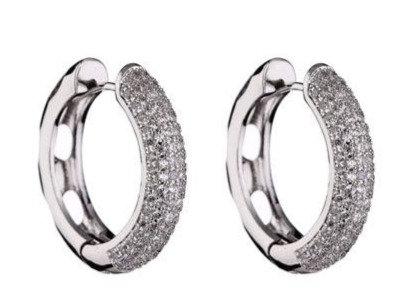 Earrings zirconi steelbase