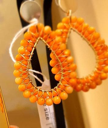 Oorbellen Orange drops