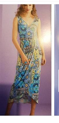 Only M lange jurk Turquoise