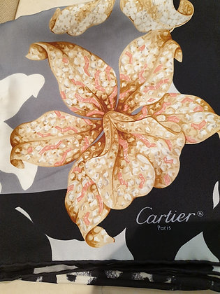 Cartier carré soie Orchid rose