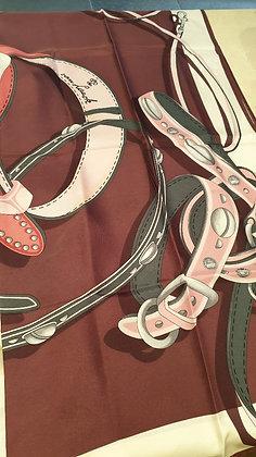 Van Laack silk vintage scarf Bordeau