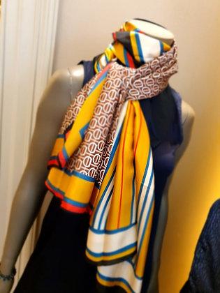 Silk scarf yellow