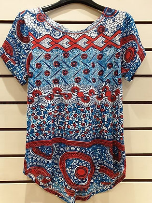 Derhy T-shirt Coral & Blu