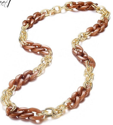 Chain brown and gold xlong