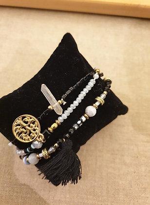 Bracelets set black