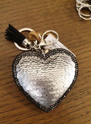 Keychain silver heart